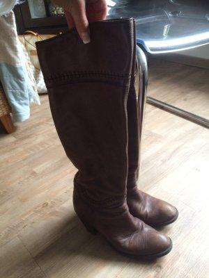 Braune Cowboy Lederstiefel