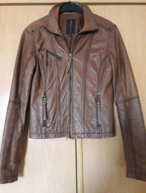 Braune Damen Lederjacke von Tom Tailor
