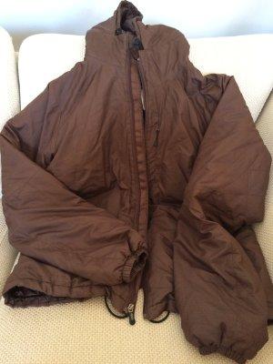 braune Daunenjacke/ Primaloft Jacke mit Kaputze