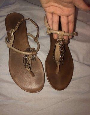 Braune Echtleder Sandalette