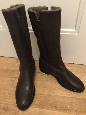 Braune Echtleder Stiefel, neuwertig