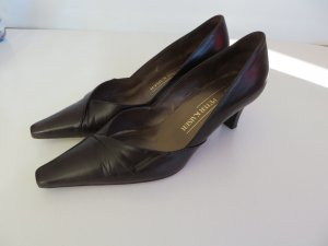 Peter Kaiser Mules dark brown leather