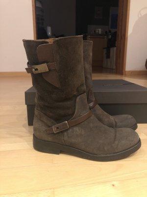Alberto Fermani High Boots dark brown leather