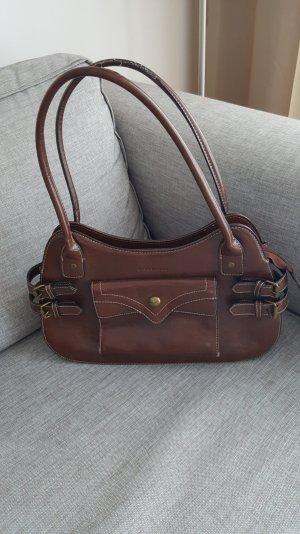 Braune Echtledertasche von Marc Picard