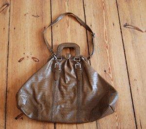 Braune extralarge Weekend Bag (Kauf dich glücklich)