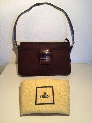 Braune FENDI Wildleder-Handtasche