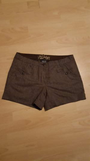 Braune gefütterte Shorts, Gr. 38