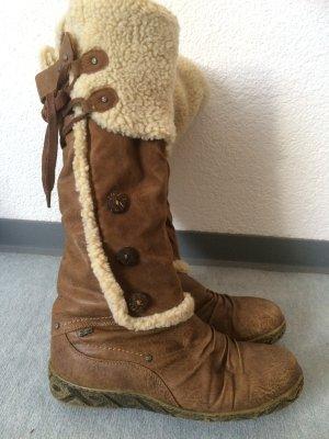 braune gefütterte Stiefel von der Marke Relife - Gr. 38