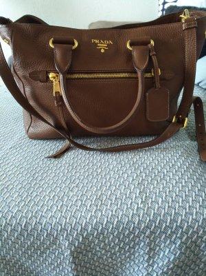 Braune große(34*28cm) zeitlose Prada Handtasche