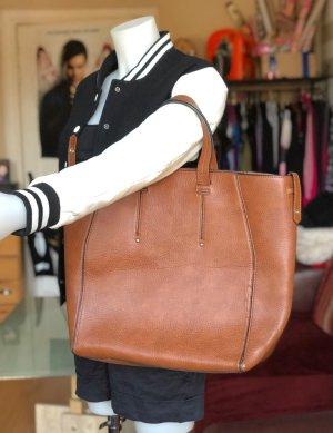 Braune große Zara Tasche