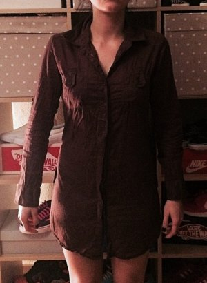 Braune H&M Blusen Kleid S