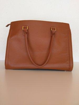 H&M Bolso barrel marrón claro-color oro