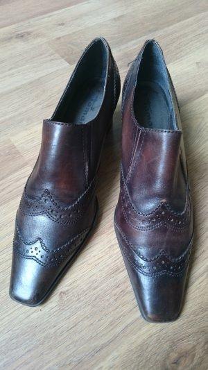 Tamaris Slip-on Shoes dark brown leather