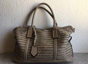 Braune Handtasche mit Glitzerdetails