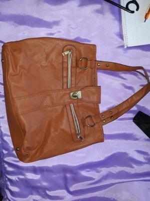 braune Handtasche Schultertasche