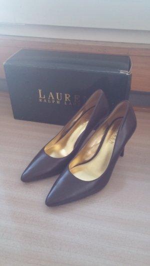 braune High Heels Pumps von Ralph Lauren