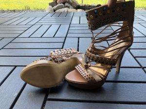 Braune High Heels von Nine West Gr. 51/2 M = 36