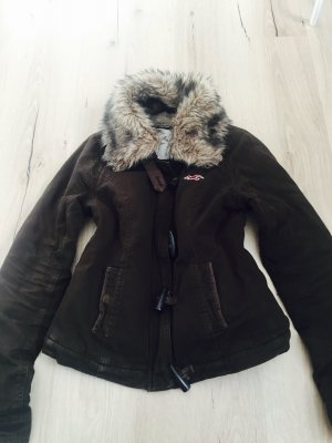 Braune Hollister Winterjacke