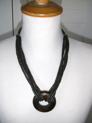braune Holzkette im afrikanischen Stil, H&M