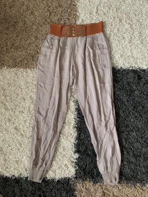 Pantalon large brun-marron clair