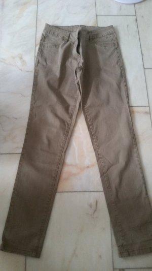 Blue Motion Pantalon cigarette marron clair