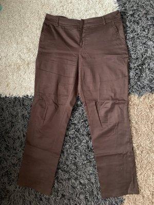 Yessica Pantalon chinos brun foncé