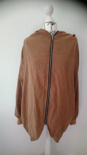 Blouson aviateur brun tissu mixte