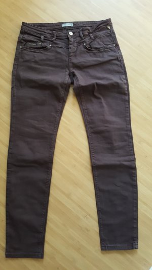Betty & Co Lage taille broek bruin