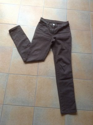 Jeans elasticizzati marrone-grigio