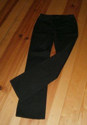Braune Jeans  mit Strass-Applikationen