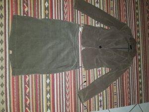 Benetton Falda de tubo marrón tejido mezclado
