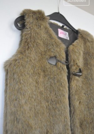 Alive Fake Fur Vest multicolored