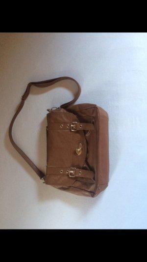 Braune Kunstleder Handtasche