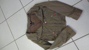 braune, kurze Jacke, Jeansjacke,von Diesel in braun