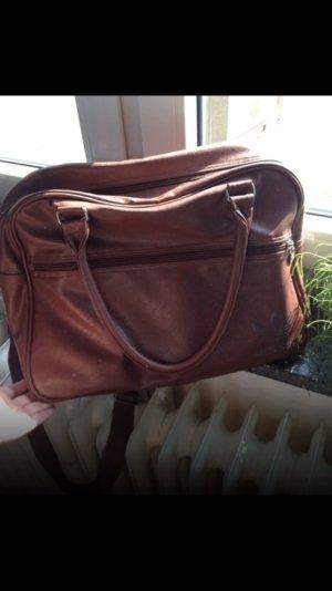 Braune Leder adidas Uni/ Schul Tasche