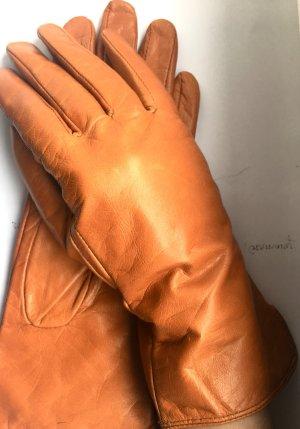Braune Leder Handschuhe Von Mango