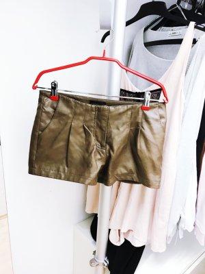 Braune Leder Hotpants von Vero Moda