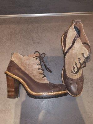 Esprit Bottines à lacets marron clair-brun foncé