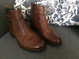 5th Avenue Booties black brown-brown leather