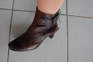 Braune Leder-Stiefeletten von bellissima in 37