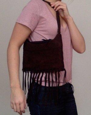 Braune Lederhandtasche im Indistyle, Zara