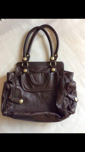 Braune Lederhandtasche von George Gina & Lucy