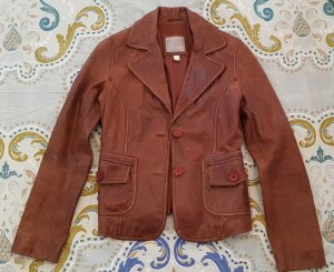 Amisu Leather Jacket brown leather