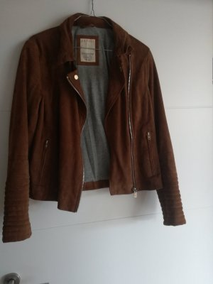 de.corp by Esprit Leather Jacket brown