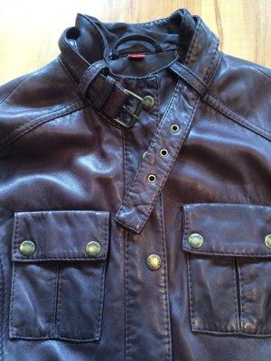 Braune Lederjacke von Esprit