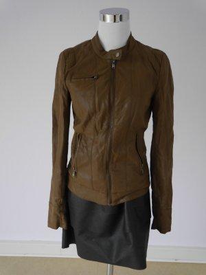 Braune Lederjacke von Only aus Fakeleder