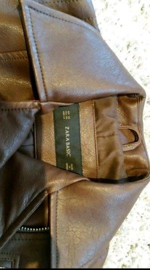 Braune Lederjacke Zara NEU