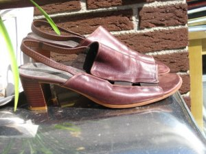 C&A Sandalo con cinturino marrone-rosso-marrone-nero Pelle