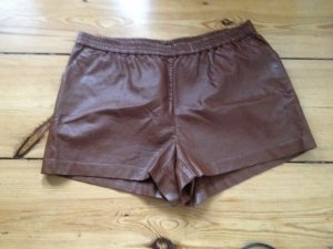 H&M Pantalon court marron clair polyuréthane