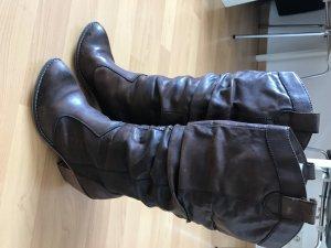 Botas estilo militar marrón oscuro-marrón